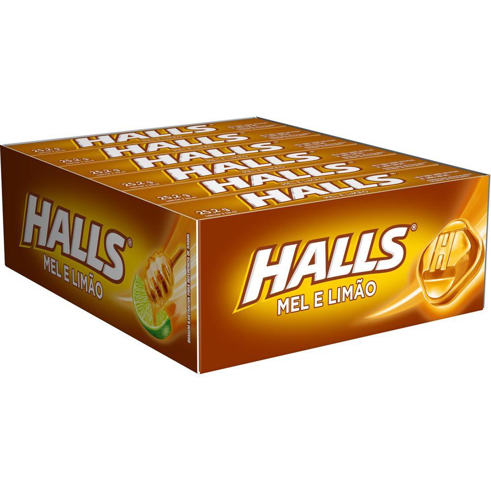 HALLS MEL E LIMAO 12X25,2G