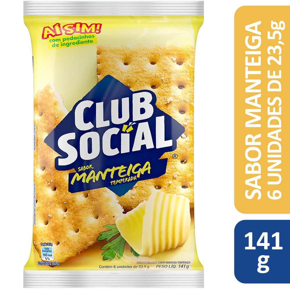 Club Social Manteiga Temperada 6Dsx12Unx24g